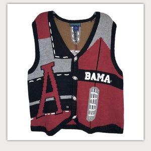 Vintage Alabama Football Sweater Vest Collegiate